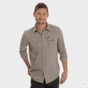 Long Sleeve Canvas Outdoor Camp Shirt-#77-31
